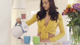 Beautiful Michaela Isizzu Invites you for a coffee
