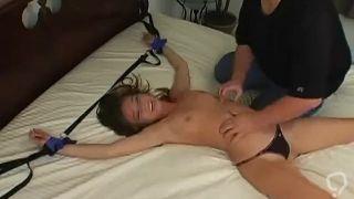 alexis capri bed bondage tickle torture (better audio)