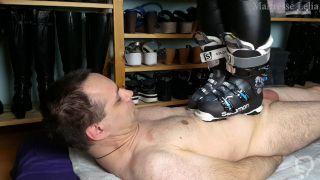 Piétinement en bottes de ski