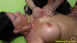 big boob german milf dacada gest oiled and rough group banged at our weekend bukkake party orgy
