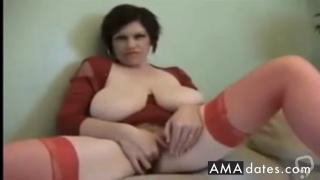 big boobed woman solo masturbation