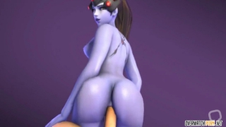 Big boobs Overwatch heroes get pussy drilled compilation