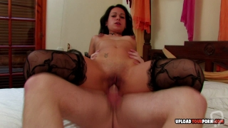 Big booty babe takes a rock-solid cock