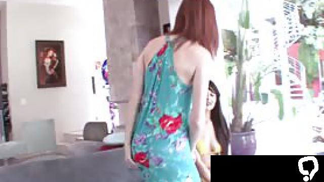 Bikini lesbian stepteen tasting and fingering hot redhead
