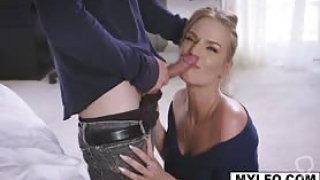 Brad Sterling gagged Rachael Cavall's mouth while pounding her milf pussy