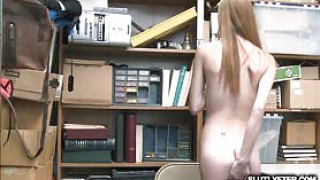 Busted shoplyfter Ava Parker had no choice the LP Officer fucks her tight pussy so rough Ava Parker spread her legs wide open and her young pussy got stretched The LP Officer pounds her precious twat like a spreadeagle with his massive man meat