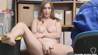 Teen shoplifter cooperated with the LP Officer Skylar Snow do exactly what the LP Officer instruct her to do now he wants to romp her off so she lays her on the desk and lifts up her leegs whipping out his dick he start screwing her tight pussy hard