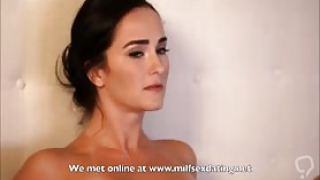 Not son helps horny stepmom with her pussy desires
