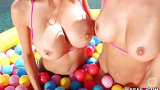 Get ready for these two horny cougars Alexis Fawx and Cherie DeVille enjoy in their 1st lesbian ANAL exploration and reach their explosive anal orgasms that will surely you love to see.