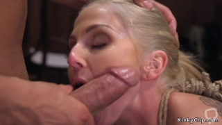Big tits blonde agent anal banged in bondage