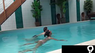 Czech cutie agrees to give a stranger a bj at a pool, while her boyfriend is filming.