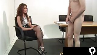 Cfnm amateur rides face and cock before tugging for cumshot