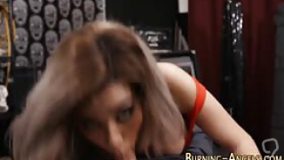Punk rock slut with piercing fucked and sucks on hard dick pov