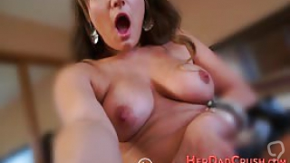 Stepdaughter gets pounded pov and rubs her pussy before cum