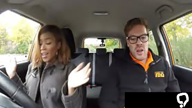 A astonishing nubian hottie muffer Minaj is ready to learn how to drive a car but she is not very talented for that. Instead of that, she screws instructor's roughly caucasian dong right there in the car.