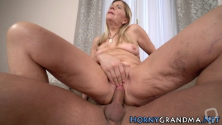 blonde granny rides cock mature film 1