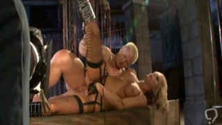 Blonde mistress Brooke pleases a bald stud