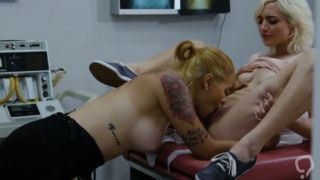 Cute bisex teen visits her pretty doctor and guess what