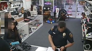 Busted Brunette Sucking Dick In Pawn Shop Point Of View