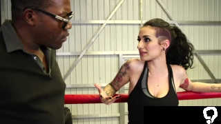 Busty ink boxer throats and analed reamed by black coach