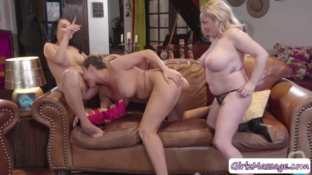 Busty MILFs Ryan Keely, Aiden Start and Crystal Rush enjoys licking each other