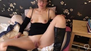 Claire masturbates her shaved pussy  sneak peek