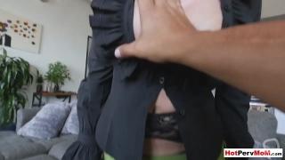 Classy cock addict MILF stepmom taboo fucks her stepson