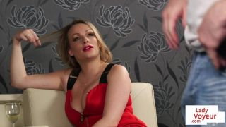 CFNM voyeur MILF dirty talking during JOI