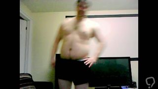 Awkward guy strips naked and dances to music
