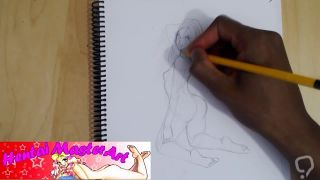 Blonde Beauty Anna Tame in bright light fan art speed drawing