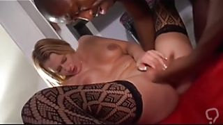 A french blonde gets banged
