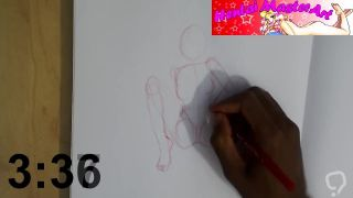 Quick Sketches: Bunny Hughes legs spread fan art