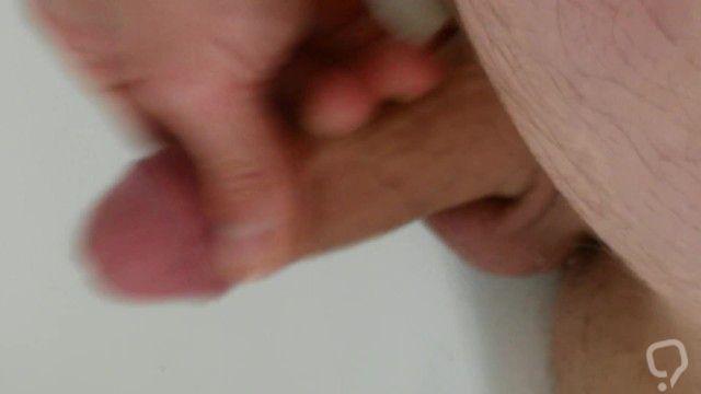 Hard cock cum