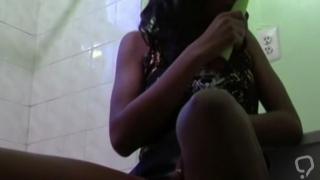 Ebony girlfriend fucking her white boyfriend