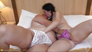 Mature Fat Lady With A Sexy Brunette Chick