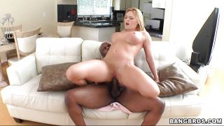 Busty Babe Getting A Hardcore Interracial