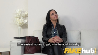 Fake Agent Pretty pink pussy licked and fucked in hardcore adult casting