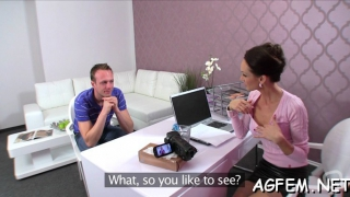 female agent is ready for sex games segment clip 1