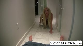 Victoria White gets down and dirty in the hotel bathroom