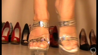 fetish girls show their shoes