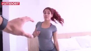 Hot red hair babe picked up and fucked