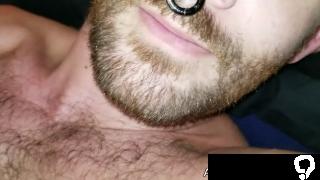 Amateur handsome jock masturbates his big uncut cock
