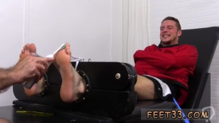 Arab cute boy to sex and trio muscular gay Kenny Tickled In A Straight Jacket