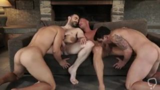 Two daddies fucking two young guys