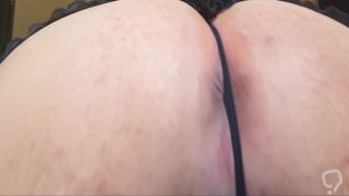Femboy bubble butt training push ups close with thong