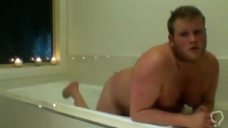 Chubby Guy In The Bath Tub