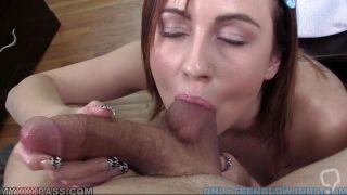 Young Slut Slurps Down A Big Meatstick