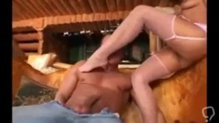 Footjob by sexy milf Szilvia Lauren