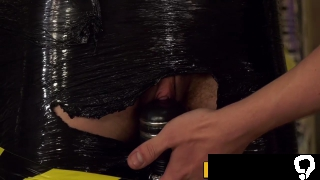 Female turned male endures slapping and vaginal torment