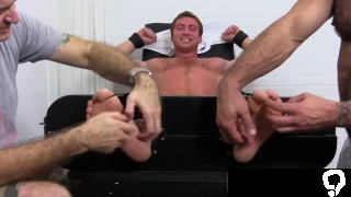 Free gay porn of anal Connor Maguire Tickled Naked
